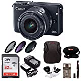 Canon EOS M10 Digital SLR Camera with EF-M 15-45mm f/3.5-6.3 IS STM Lens (Bla...