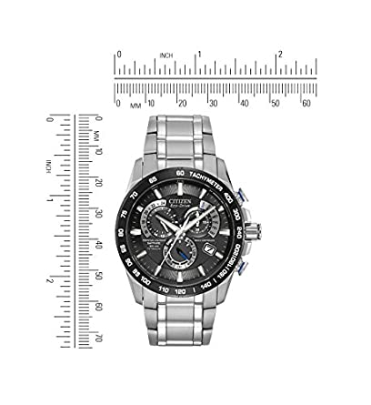 Citizen Men s Eco-Drive Titanium Perpetual Chrono Atomic Timekeeping Watch with Date, AT4010-50E