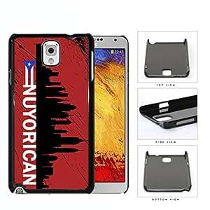Nuyorican New York City Silhouette Hard Plastic Snap On Cell Phone Case Samsung Galaxy Note 3 III N9000 N9002 N9005