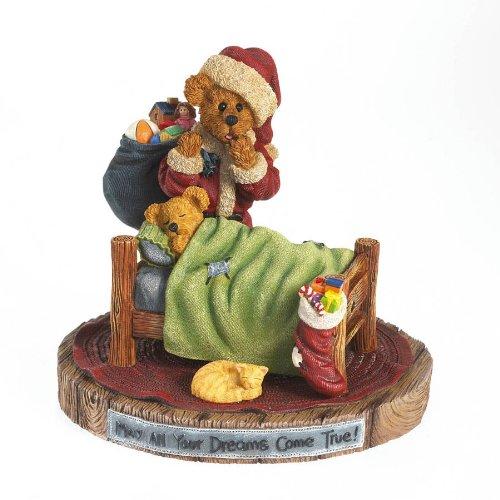 Boyd's Bears by Enesco Collectible Timmy and TabbySugarplum Dreams Santa and Sleeping Bear Figurine Boyd Night Air