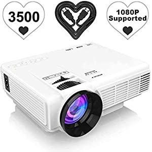 [Latest Upgrade] 4500Lumens Mini Projector, Full HD 1080P 170″ Display Supported, PS4,TV Stick, Smartphone, USB, SD Card Supported, Great for Home Theater Movies