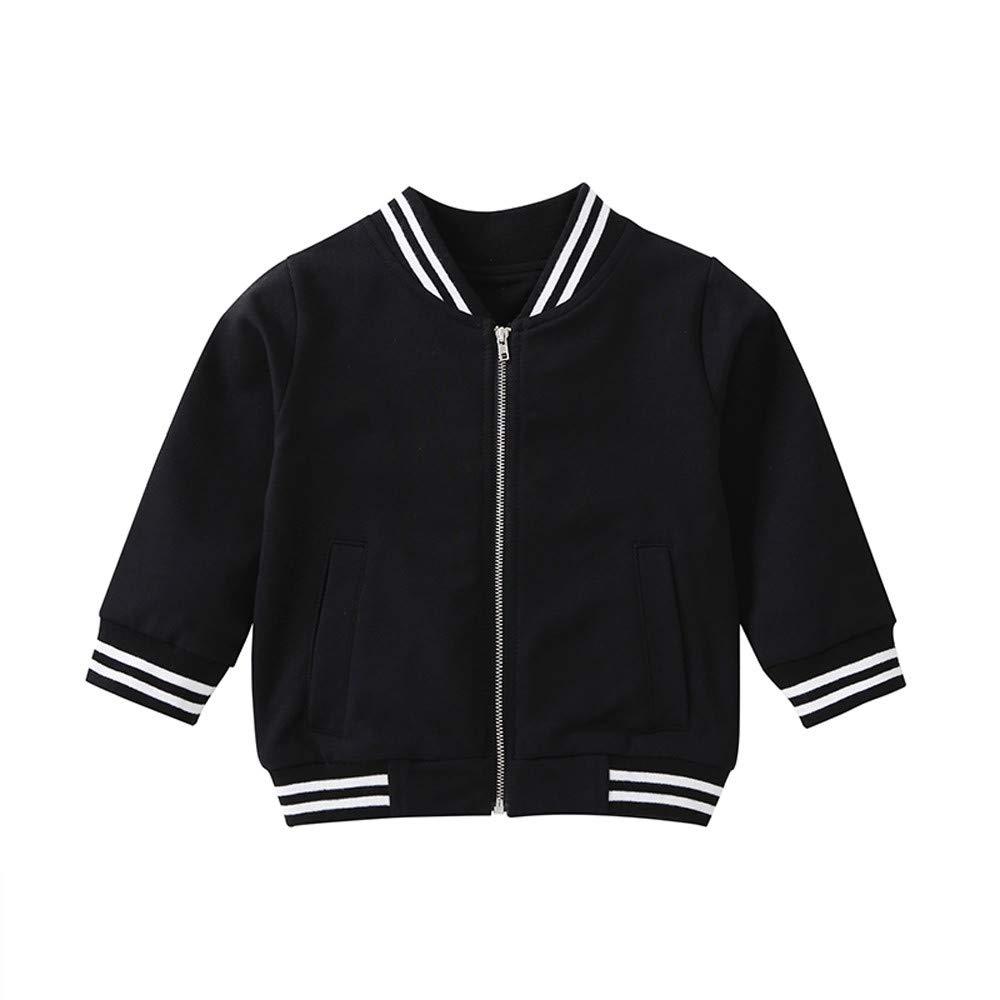 Baby Toddler Boy Girl Sweatshirt Fall Winter Baseball Clothes Tops 1-5 Years Old,Kids Cartoon Sequins Zipper Coat