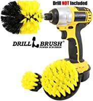 Boat Accessories - Kayak - Cleaning Supplies - Drill Brush - Rotary Cleaning Brushes for Boats and Watercraft - Canoes, Jet-Ski, Bass - Fiberglass, Aluminum, Gel Coat, Wood, Painted - Boat Hull