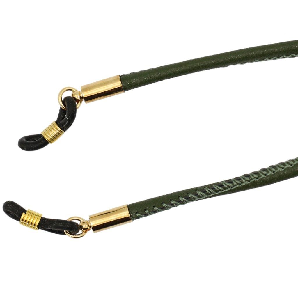 Verde//Negro//Azul//Marr/ón Sharplace Correa para Gafas Cuerda de PU Cuero