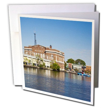 Fells Point Baltimore Maryland Thames St- Walter Bibikow - Greeting Cards, 6 x 6 inches, set of 6 - Thames St