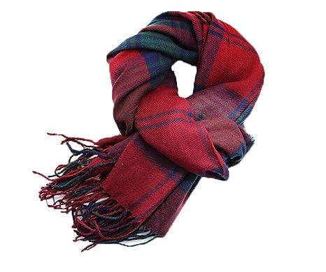 baskets pour pas cher jolie et colorée gros en ligne Samanthajane - Grande écharpe en tartan écossais Pashmina pour femme et  homme - Rouge, bleu
