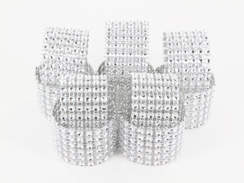 Sparkles Make It Special 300 Diamond Rhinestone Mesh Napkin Rings