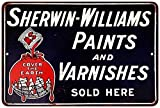 Sherwin-Williams Paints and Varnishes Sold Here Reproduction 8x12 Sign 8121494 offers