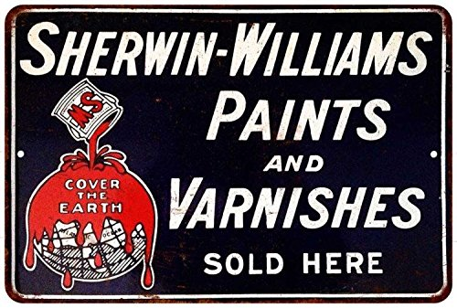 Sherwin Williams Paints And Varnishes Sold Here Reproduction 8X12 Sign 8121494