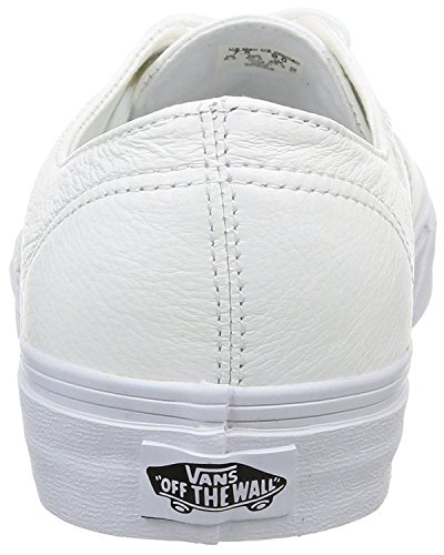 Vans U Authentic Decon White Leather Unisex Skate Trainers -12 FS68q0rv