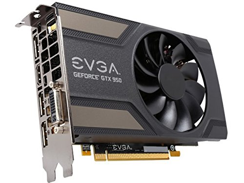 EVGA GeForce GTX 950 2GB SC GAMING, Silent Cooling Graphics Card 02G-P4-2951-KR