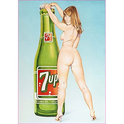 """7 Up Pin Up Girl Decal 5"""" from the United States for sale"""