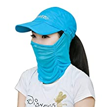Baiyu Anti-UV Sun Hat 360 Degree Outdoor Cap UV 50+ Fisherman's Hats Neck Face Mask Protection Windproof Folding Topee Headwear With Removable Sun Shield for Fishing Hunting Camping Swimming Hiking