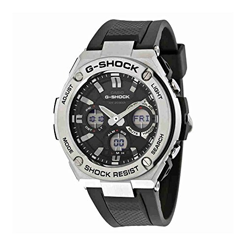 Casio-Mens-G-SHOCK-Quartz-Stainless-Steel-and-Resin-Casual-Watch-ColorBlack-Model-GST-S110-1ACR