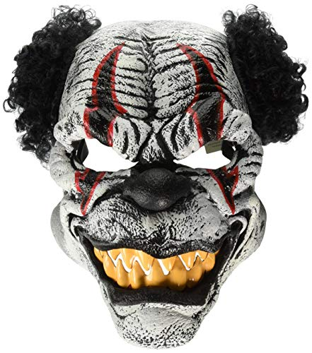 Last Laugh The Clown Costume (California Costumes Men's Ani-Motion Masks - Last Laugh The Clown Ani-Motion Mask, Black/Red, One)