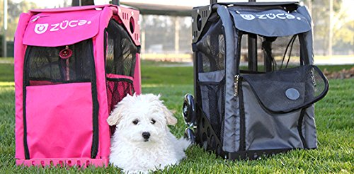 Zuca rolling Pet carrier (black frame/charcoal bag)