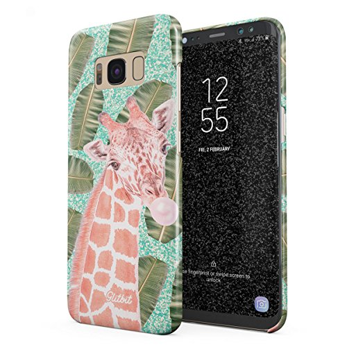 Glitbit Samsung Galaxy S8 Plus Case Sweet Bubble Gum Pink Giraffe Tropical Sprinkles Cute Pattern Thin Design Durable Hard Shell Plastic Protective Case Cover (Giraffe Sprinkles)