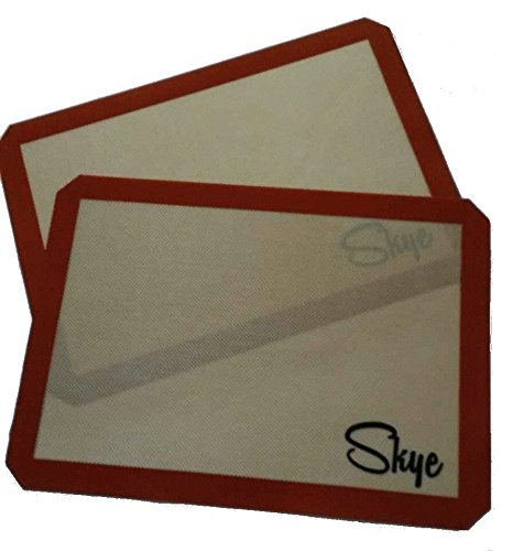 Silicone Baking Mat set (2) MADE IN THE USA! - Half-Size Sheet Pan (16.5