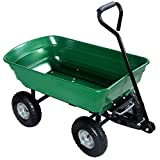 Wheelbarrows, Carts & Wagons 650LB Garden Dump Cart Dumper Wagon Carrier Wheel Barrow Air Tires Heavy Duty