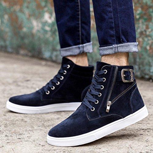 Hommes Chaussures Chaussures Espadrille De Haut Plat Printemps Azur Chaud Mode Lhwy D'hiver Piscine Occasionnels Bottes Britanniques Les Bleu pq8AxdBA
