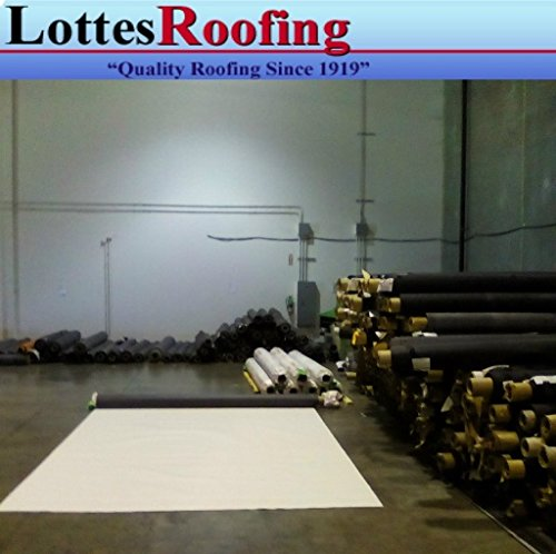 10' x 15' 45 mil TPO WHITE RV Rubber Roofing Kit, Membrane, Adhesive, Flashing by Lottes Roofing
