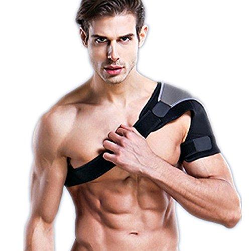 7TECH Left Shoulder Brace & Support -Protective Braces - Shoulder Pain Relief Light & Breathable