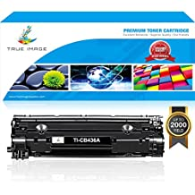 TRUE IMAGE Compatible Toner for HPCB436A HP CB436A CE285A CB435A Canon 125 36A Replaces for HP Laserjet P1102w 1102w 1102 HP1102W P1006 P1005 P1505n P1505 M1522nf Canon lbp6000 M1217nfw M1217nf MF3010