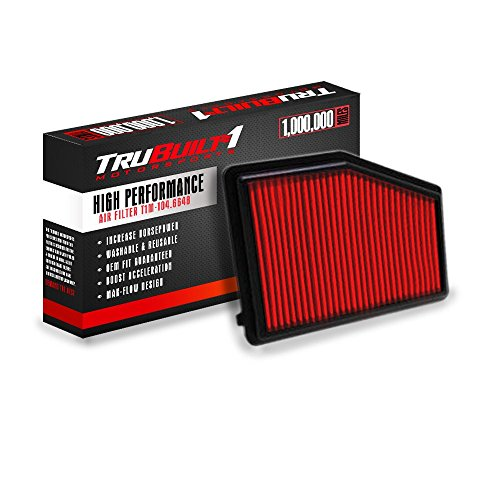T1M-104.6648 (compare to K&N 33-2468) Direct Replacement Panel Air Filter - High Performance Filter - Boosts Horsepower!