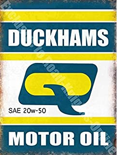 Aceite de Motor Duckhams Retro de garaje de la pared/de acero, acero,