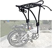 Bike Rear Rack, Aluminum Bicycle Luggage Rack Cycling Seatpost Carrier Luggage Cargo Rack with Reflector Suita
