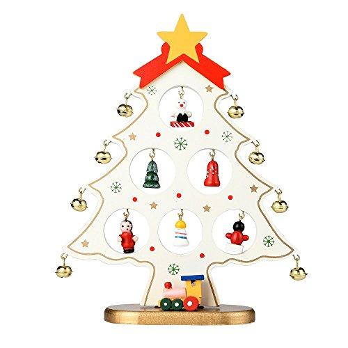 NNCTA Christmas Tree Santa Claus Snowman Wooden Swing Decoration Decoration