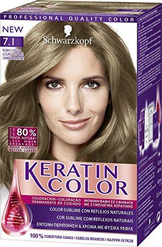 Schwarzkopf KERATIN COLOR Professional Quality Permanent Color Hair Dye Tono 7.1