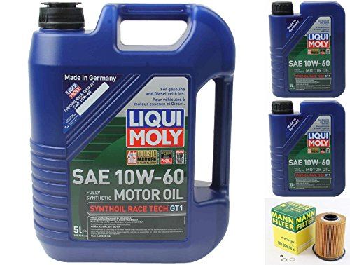 BMW M3 E36/ E46 3.0L OR 3.2L 1994-2006 OIL CHANGE KIT W/LIQUIMOLY 10W-60 and MANN FILTER. (See Fitment Below In Product Discription)