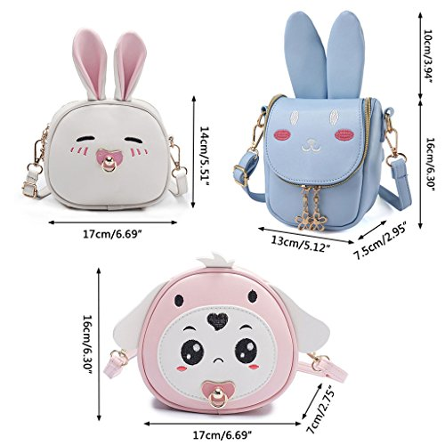 de 7x7x16cm Claro 75x6 Blue Bolso Light Azul 6 Dabixx Long para Ear 69x2 Blue Dog Perro Bandolera niños Rabbit diseño Color Light 3 gFcqUAwX