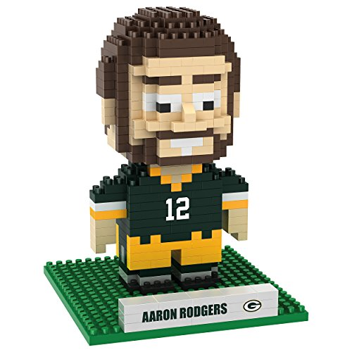 Green Bay Packers Rodgers A. #12 3D Brxlz - Player (Green Bay Packers Nfl 3d Helmet Brxlz Puzzle)