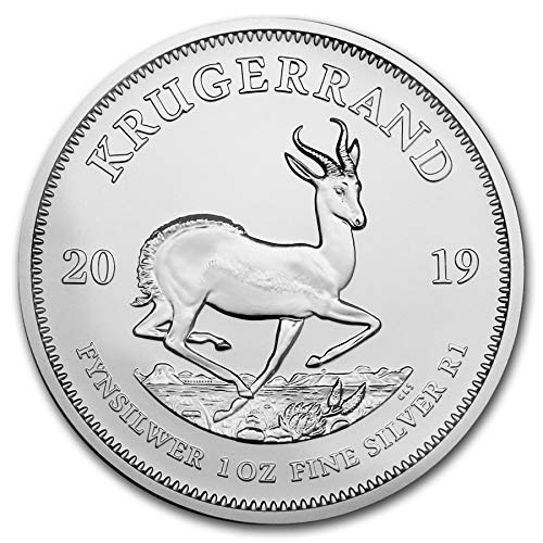 2019 ZA South African Krugerrand 1 Troy Oz Silver Bullion 1 Rand Brilliant Uncirculated ()