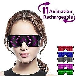 Pink LED Light up Glasses