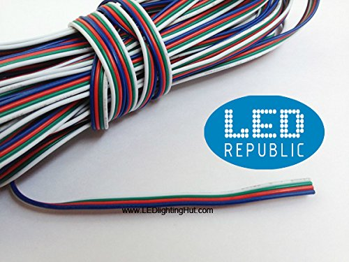 LED Republic 4 Color 50FT RGB Extension Cable Line for RGB LED Strip Light