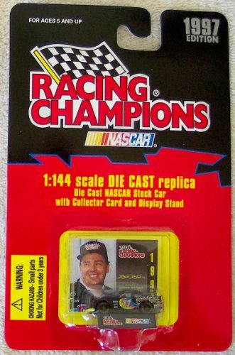 1997 Nascar Racing Champions Brett Bodine #11 1:144 Scale Die Cast Replica Stock Car with Collector Card and Display Stand from Racing Champions