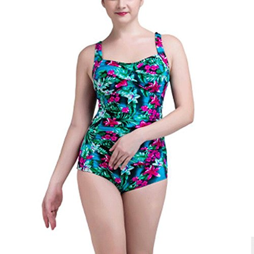 Traje de baño de las señoras Siamese Twisted Chest Printing tamaño grande ajustable traje de baño de una pieza Triangular Lady Hot Spring Bikini Bikini G
