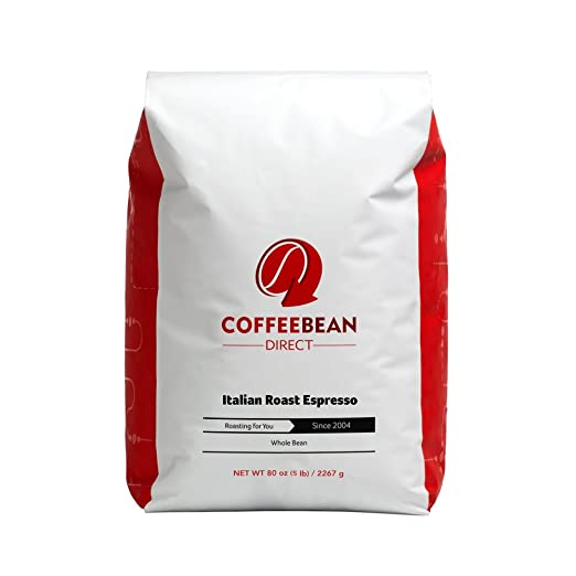 Coffee Bean Direct Italian Roast Espresso, Whole Bean Coffee
