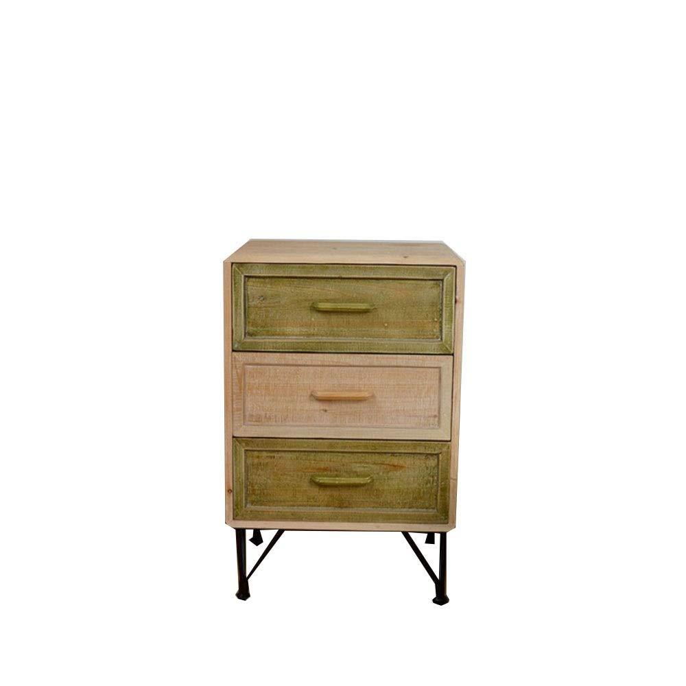 Chennong 寝室のベッドサイドテーブル3層シンプルファッションベッドサイドテーブル引き出しキャビネット収納キャビネットウッドカラーベッドサイドキャビネット B07QDRLYZ8