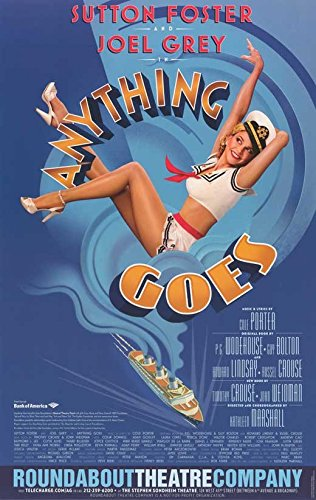 Anything Goes (Broadway) 11 x 17 Broadway Show Poster ()