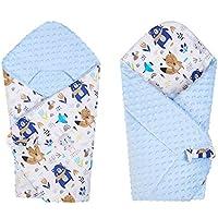 BlueberryShop polar Minky manta reversible para envolver al