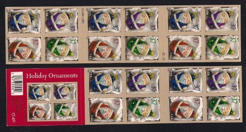 (2004 Holiday Santa Claus Ornaments  #3886b Booklet of 20 x 37 cents US Postage Stamps)