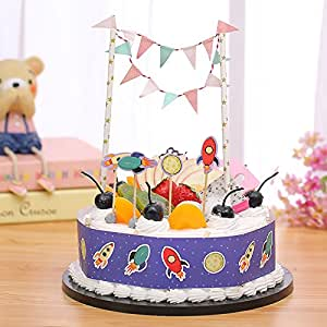 Amazoncom Gift Prod 2 Pcs Mini Happy Birthday Cake Bunting Banner