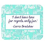 Kate Spade Quotes Pattern Customized Rectangle Mousepad
