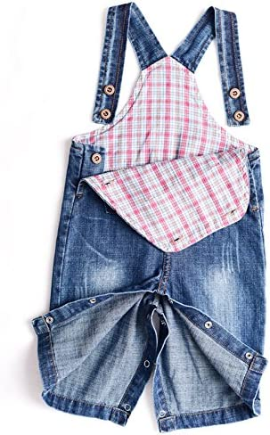 Various Styles BAIXITE Baby /& Little Boy//Girl Soft Washed Denim Bib Overalls Casual Jeans 3-24 Months