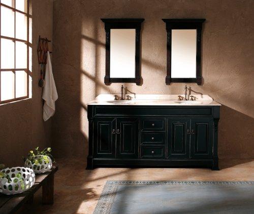 James Martin Furniture Double Cabinet Vanity, 72-Inch, Antique Black