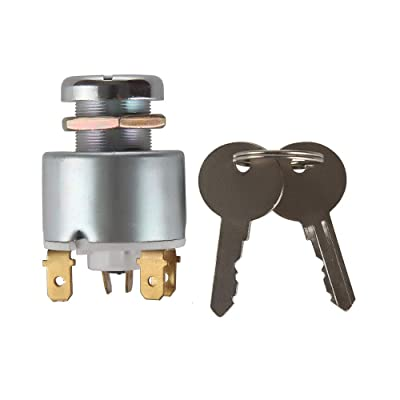 Larbi 31973K4183 SPB501,551508G Lucas Waterproof Ignition Key Starter Switch With 3 Position 5 Terminal Wire 2 Keys Suitable for Cars, Motorcycles, Boats Tractor,Trailer,Digger,Agricultura: Automotive [5Bkhe0112382]